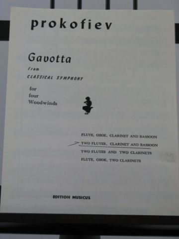 Prokofieff S - Gavotta from Classical Symphony arr Forst R